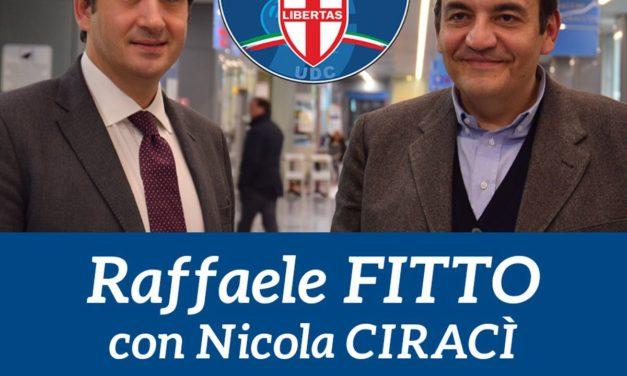 Raffaele Fitto domani a Ceglie a sostegno di Nicola Ciracì