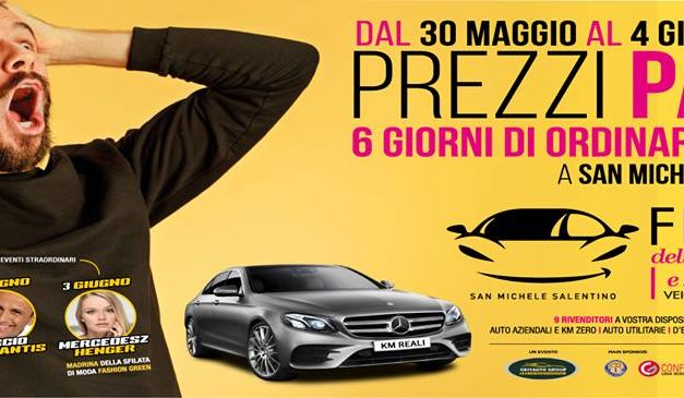 Fiera dell'Auto, tutto pronto a San Michele Salentino