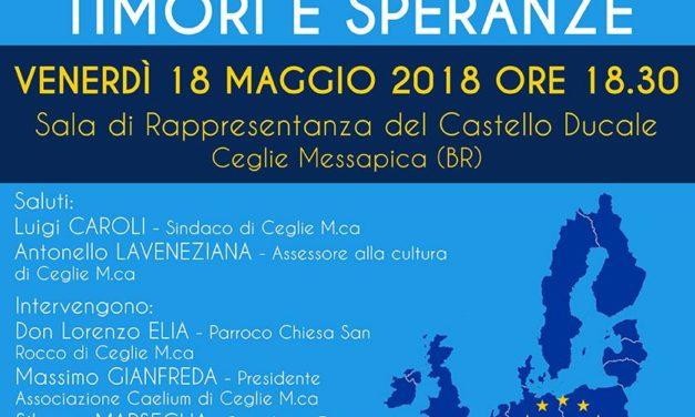 """""""Europa oggi: timori e speranze"""" se ne parla venerdì 18 a Castello Ducale"""