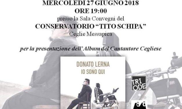 Mercoledì 27 Giugno, Donato Lerna presenta il suo disco