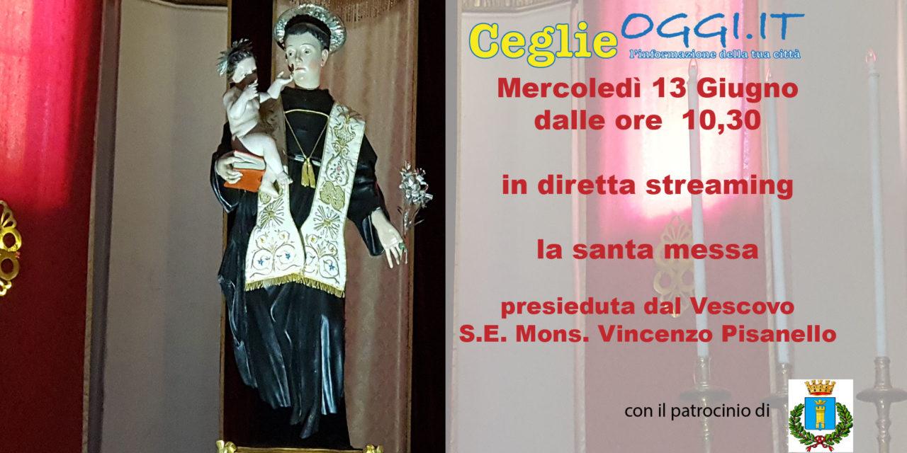 Live – Diretta Santa Messa presieduta dal Vescovo Pisanello in occasione della Festa Patronale di Sant'Antonio
