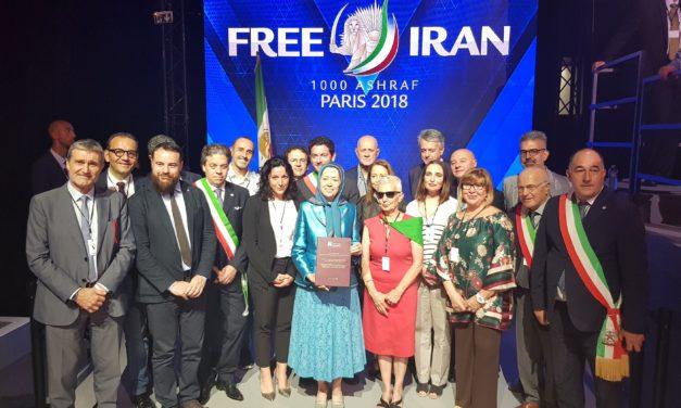 Il direttore Rolli a Parigi  insieme all'On. Ciracì e Matarrelli al Free Iran 2018