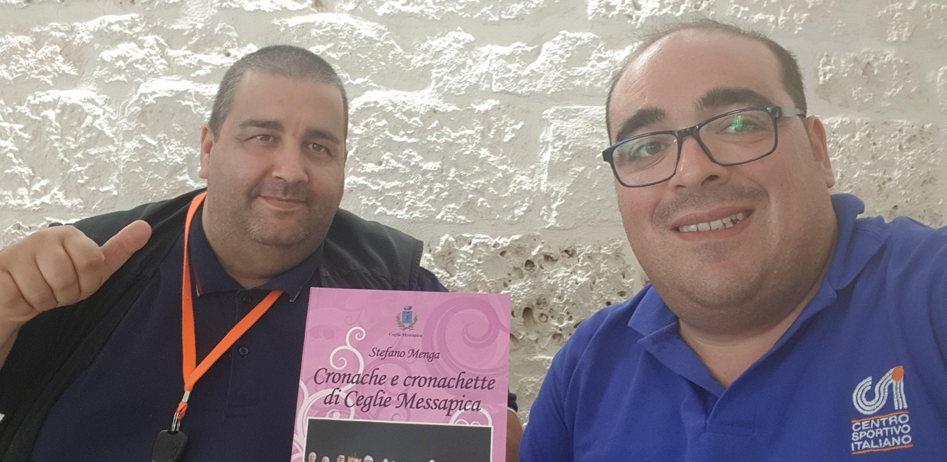 """Stefano Menga, domani presenta """"Cronache e cronachette a Ceglie Messapica"""""""