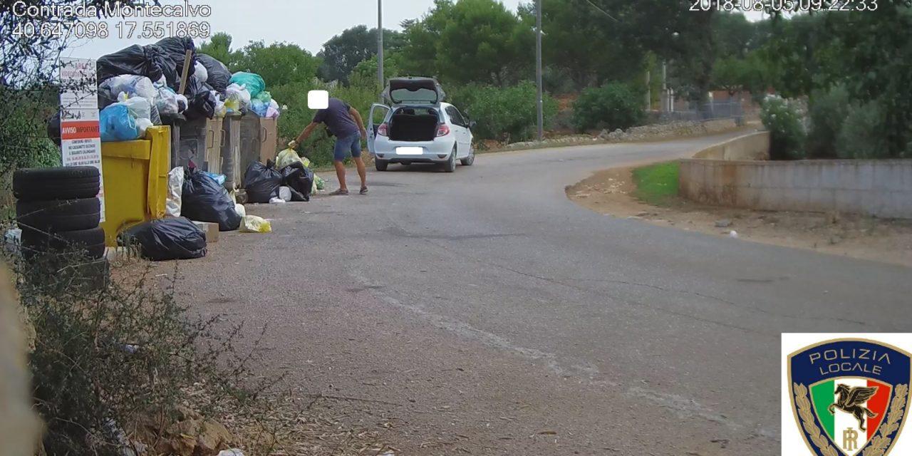 Continuano i controlli della Polizia Locale sull'abbandono dei rifiuti