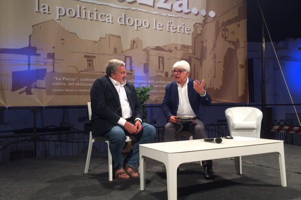 """Il Centro Risveglio si farà. Pd, Ilva, Tap, Governo e Salvini, Emiliano intervistato da Perrino alla """"Piazza"""""""