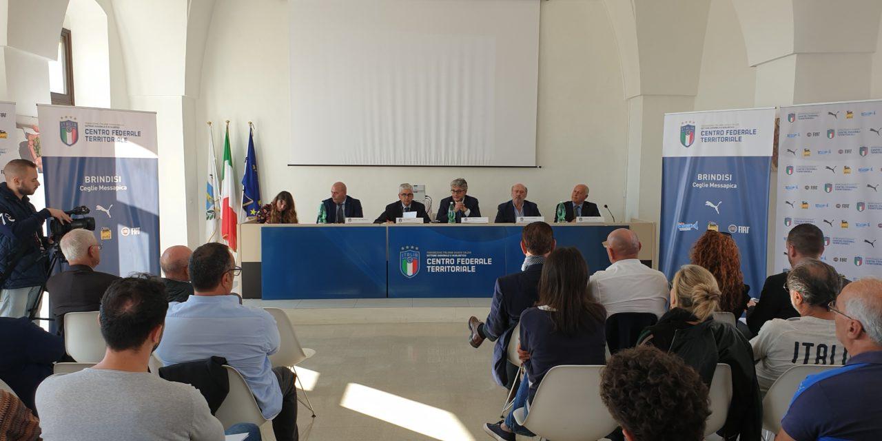 Presentato e inaugurato il nuovo Centro Tecnico Federale della FIGC a Ceglie Messapica