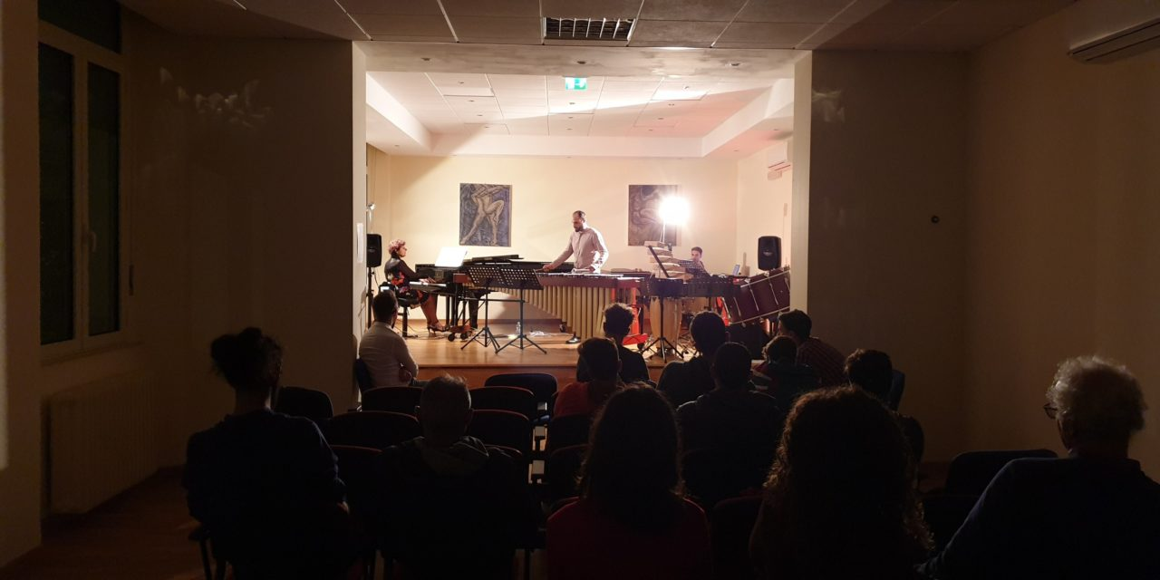 Continuano gli eventi al Conservatorio, ieri sera concerto di percussioni con il Maestro Spina. Guarda il video