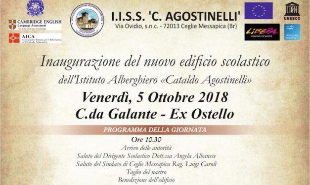 Oggi si inaugura il nuovo plesso dell'Agostinelli
