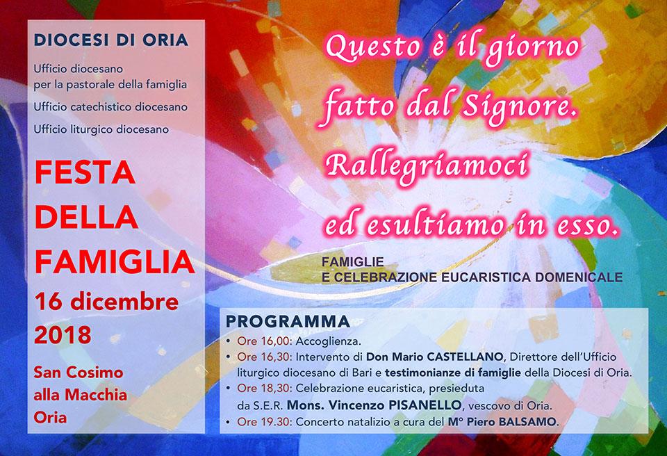 Domenica 16 Dicembre la Festa della Famiglia della Diocesi ...