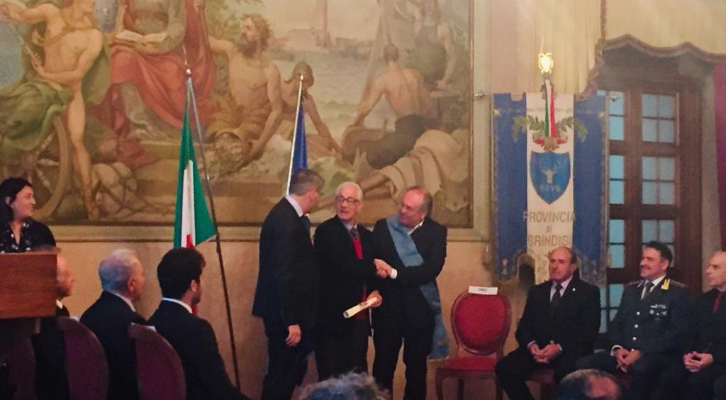 Consegnata a Michele Ciracì l'onorificenza di Commendatore della Repubblica Italiana