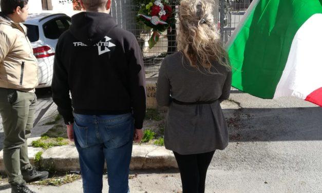 Il circolo cittadino di CasaPound in ricordo dei Martiri delle Foibe