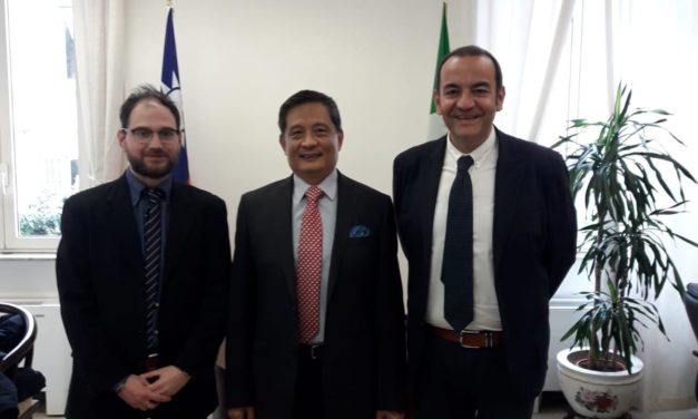 L'on. Ciracì ha incontrato l'Ambasciatore di Taiwan a Roma Andrea Sing-Ying Lee